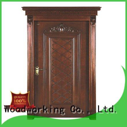wooden pp035 Runcheng Woodworking cheap wooden front doors