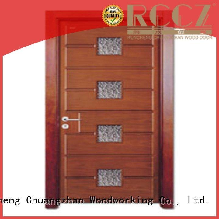 wooden glazed front doors door glazed glazed Runcheng Woodworking