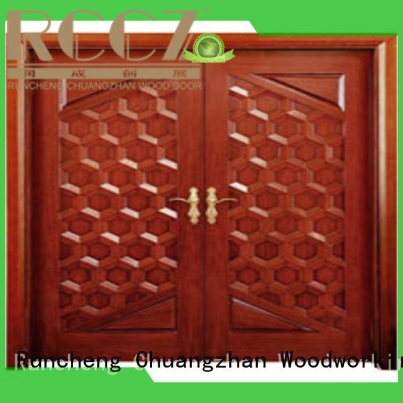 Quality white double doors Runcheng Woodworking Brand door interior double doors
