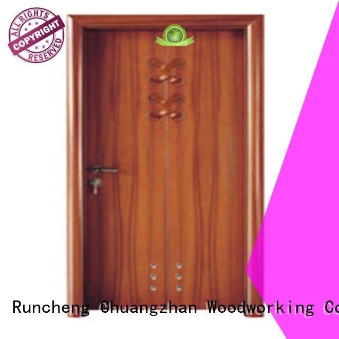 composite interior doors bathroom solid wood bathroom doors door Runcheng Woodworking