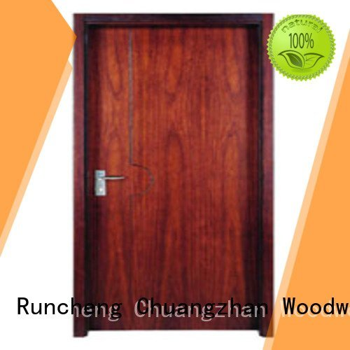 flush mdf interior wooden door pp003t3 wooden flush door Runcheng Woodworking Brand