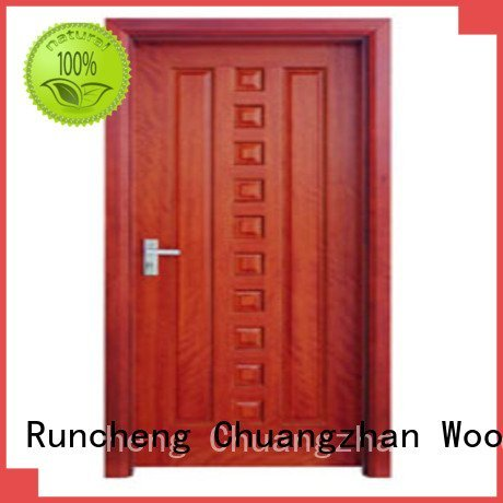 door flush flush Runcheng Woodworking flush mdf interior wooden door
