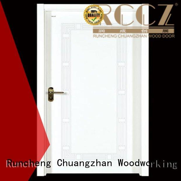 Custom durable interior wooden door with solid wood wooden Runcheng Woodworking