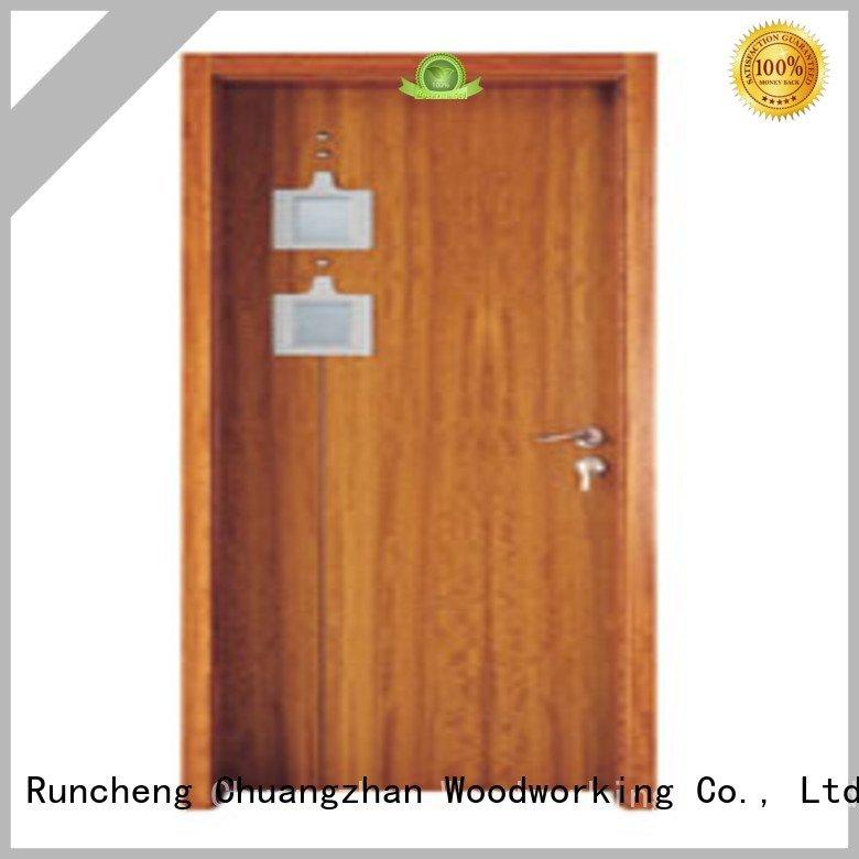 glazed door Runcheng Woodworking wooden double glazed doors door glazed