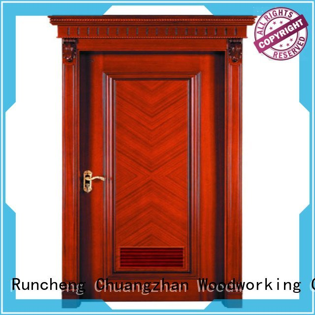 bathroom kitchen victorian wood veneer door Runcheng Woodworking