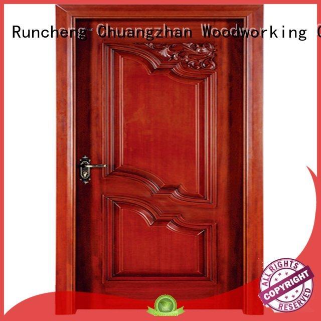 Wholesale wooden interior wooden door with solid wood Runcheng Woodworking Brand