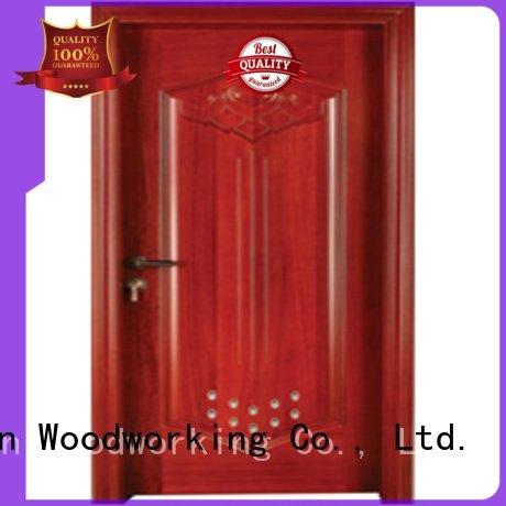 Quality pvc bathroom wooden door Runcheng Woodworking Brand door wooden bathroom door