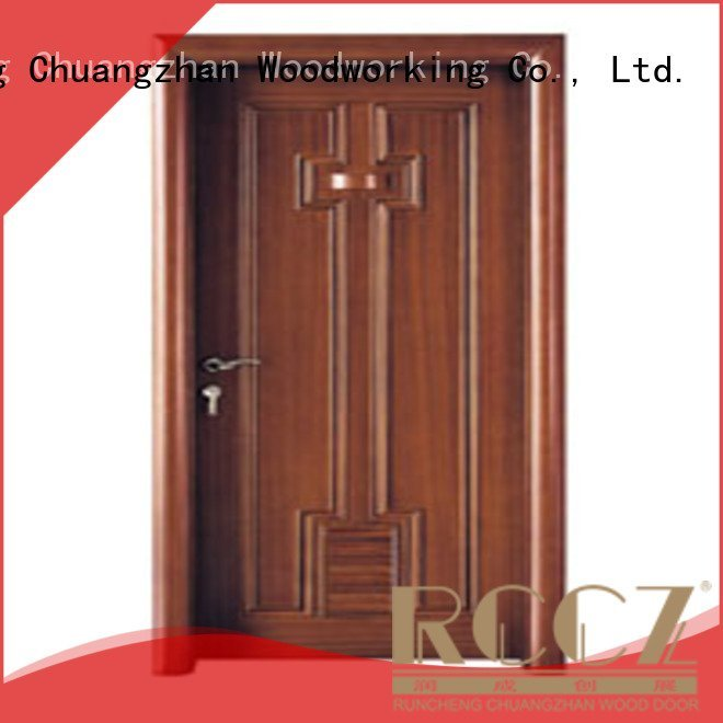 composite interior doors x0302 solid wood bathroom doors Runcheng Woodworking