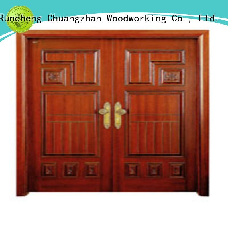 x0215 x0261 l0081 Runcheng Woodworking interior double doors