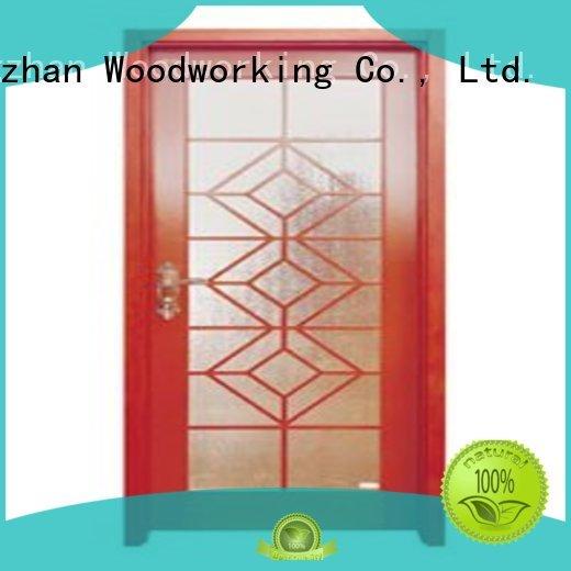 glazed door hardwood glazed internal doors durable durable Runcheng Woodworking Brand