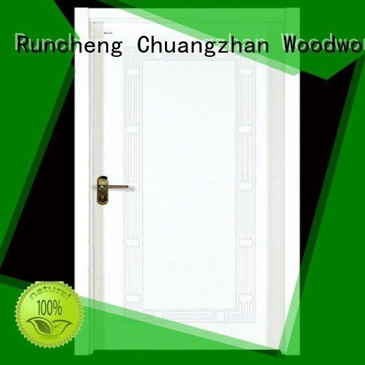 d021 s017 cheap wooden front doors Runcheng Woodworking