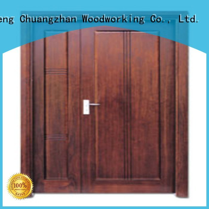 door double double white double doors Runcheng Woodworking