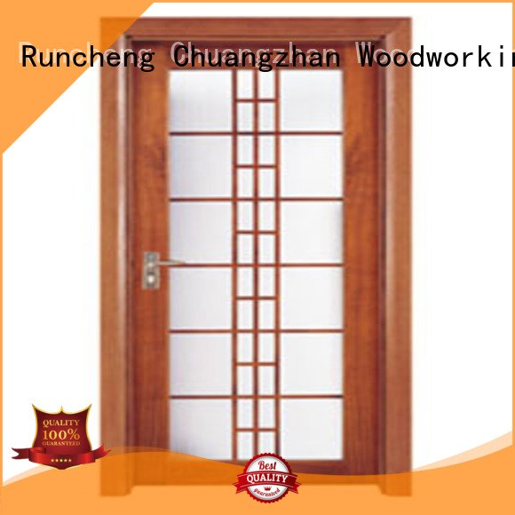 glazed door Runcheng Woodworking wooden double glazed doors