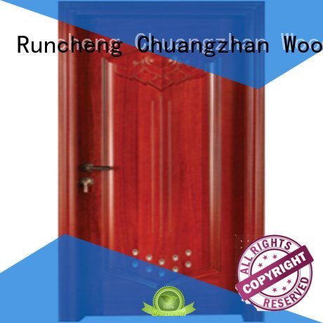 bathroom door pvc bathroom wooden door Runcheng Woodworking