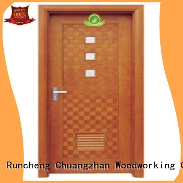 flush mdf interior wooden door durable door Runcheng Woodworking Brand