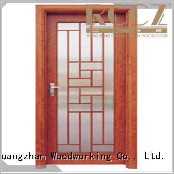 Custom wooden double glazed doors glazed door door Runcheng Woodworking