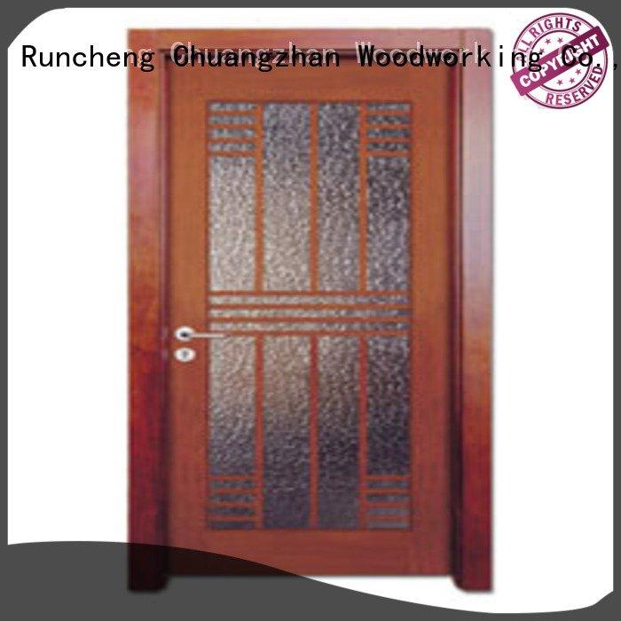 wooden glazed front doors x0183 wooden double glazed doors Runcheng Woodworking