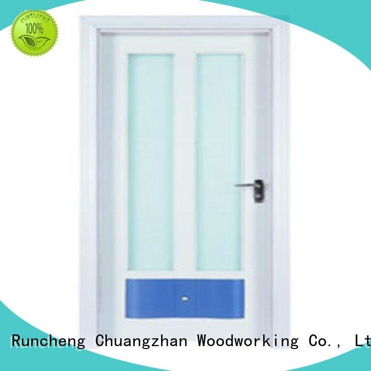 wooden glazed front doors d0074 x0283 OEM wooden double glazed doors Runcheng Woodworking