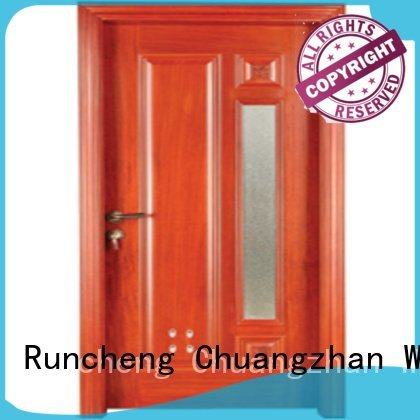 Runcheng Woodworking bathroom s0082 s0072 pvc bathroom wooden door door