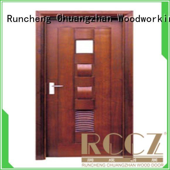Wholesale door bathroom solid wood bathroom doors Runcheng Woodworking Brand