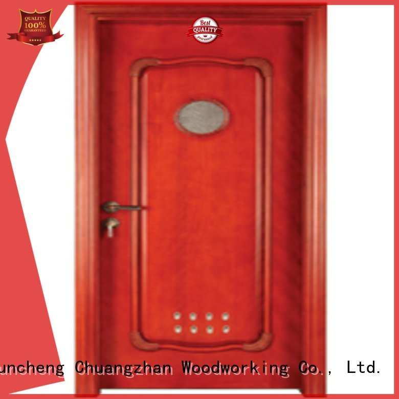 pvc bathroom wooden door bathroom door wooden bathroom door Runcheng Woodworking Brand