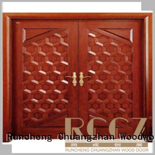 Runcheng Woodworking x0131 interior double doors x0215 l0081