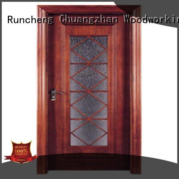 wooden glazed front doors glazed wooden double glazed doors door Runcheng Woodworking
