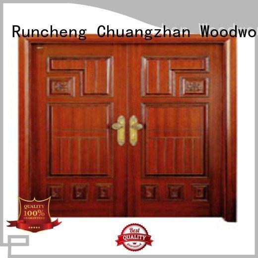 Runcheng Woodworking Brand double door custom white double doors