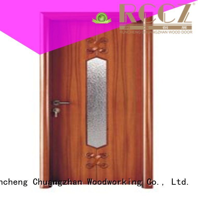 Runcheng Woodworking Brand door durable glazed hardwood glazed internal doors glazed