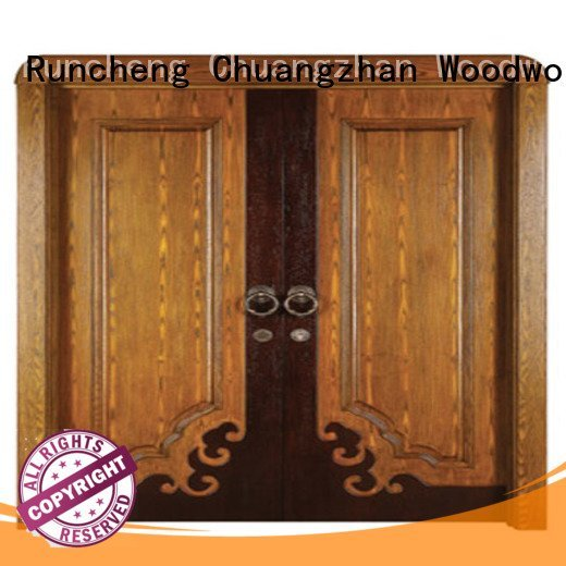 auspicious wooden door door double Runcheng Woodworking