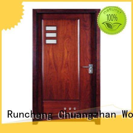 door door flush Runcheng Woodworking flush mdf interior wooden door flush