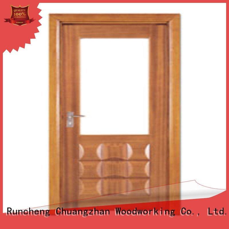 wooden glazed front doors glazed door door Runcheng Woodworking