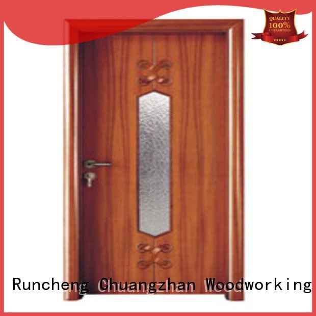 Wholesale x0194 x0134 wooden double glazed doors Runcheng Woodworking Brand