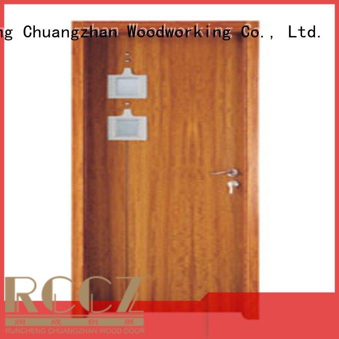wooden glazed front doors l0084 x0153 wooden double glazed doors Runcheng Woodworking Brand