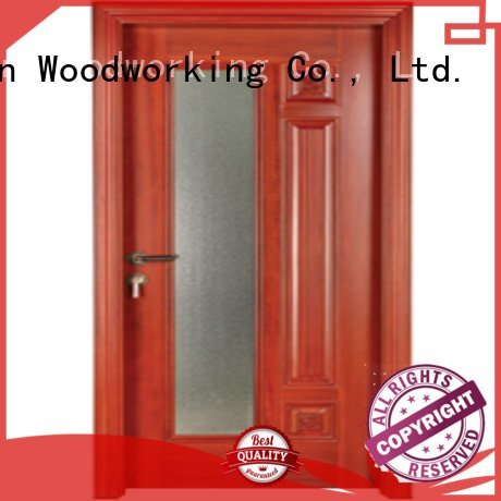 Custom wooden glazed doors solid door pure Runcheng Woodworking