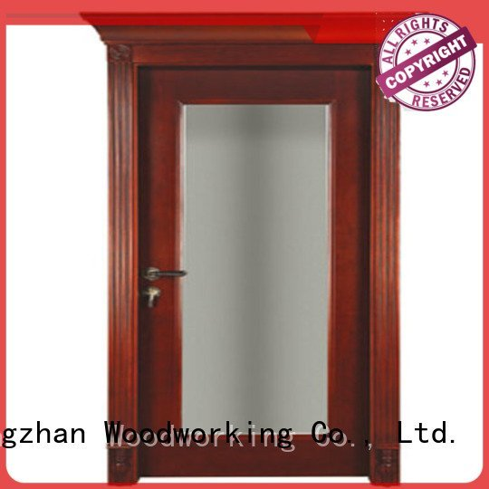 door bathroom Runcheng Woodworking solid wood compound door