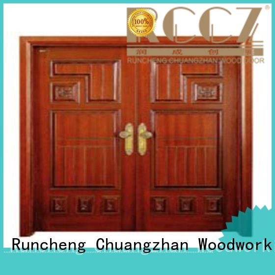 white double doors double door door Runcheng Woodworking Brand company