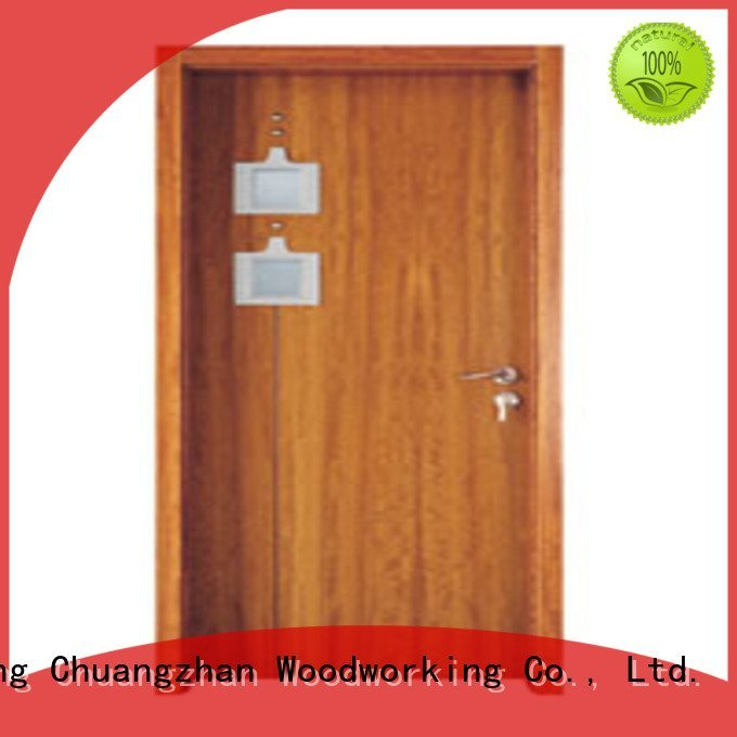 wooden glazed front doors l0084 x0223 Runcheng Woodworking Brand