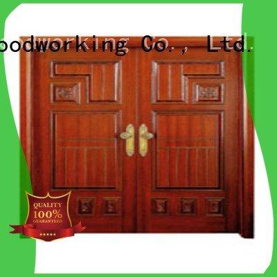 Runcheng Woodworking white double doors double door door door