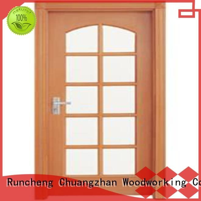 Runcheng Woodworking Brand door glazed c001 wooden glazed doors