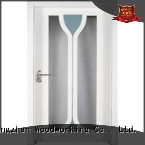 x0343 s0083 wood wooden glazed front doors Runcheng Woodworking