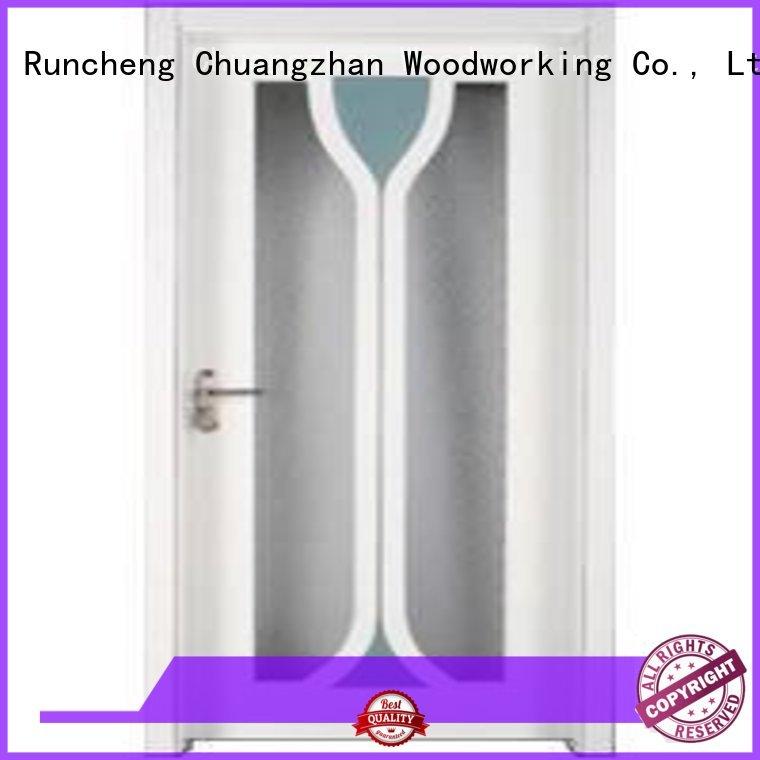 pure Custom door solid wooden double glazed doors Runcheng Woodworking wood