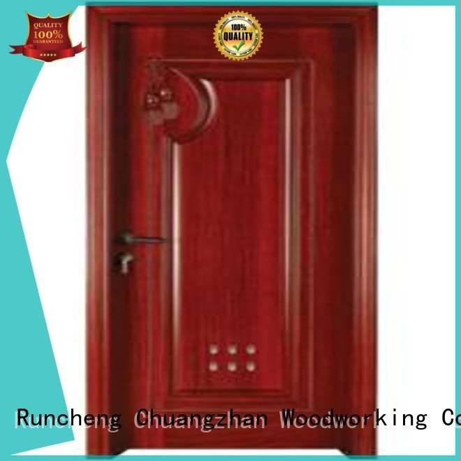 pvc bathroom wooden door door bathroom OEM wooden bathroom door Runcheng Woodworking