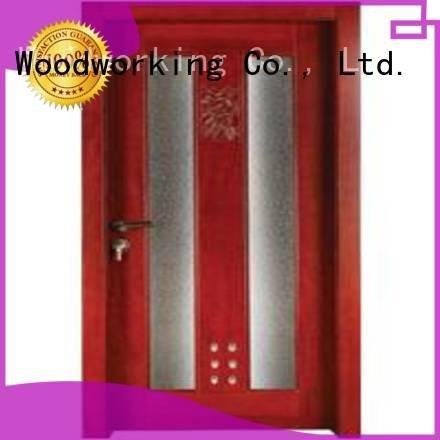 Custom wooden bathroom door s0092 door bathroom Runcheng Woodworking