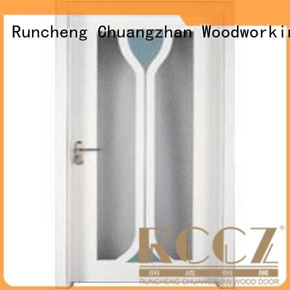 wooden glazed front doors x0333 solid wooden glazed doors Runcheng Woodworking Warranty