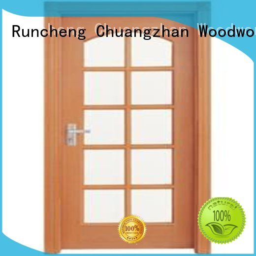 Runcheng Woodworking Brand door hardwood glazed internal doors durable supplier