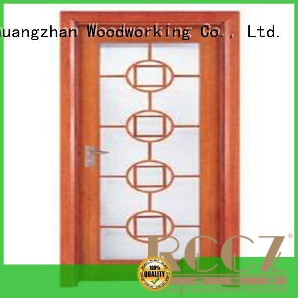 durable glazed door door wooden double glazed doors Runcheng Woodworking