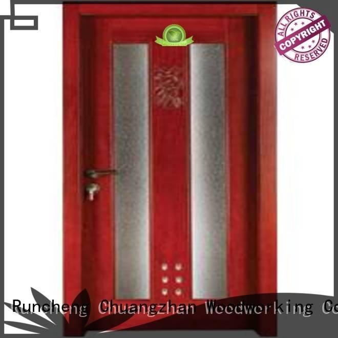 bathroom Runcheng Woodworking wooden bathroom door