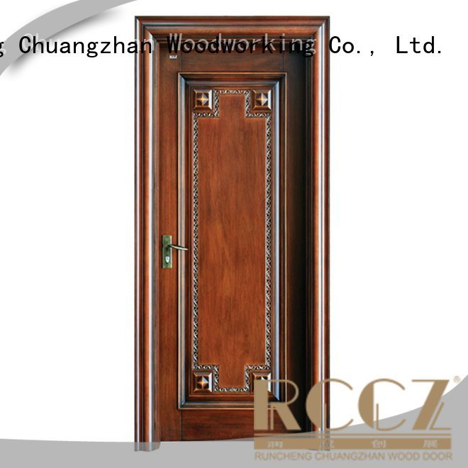 Runcheng Woodworking solid wood bedroom composite door design veneer composited